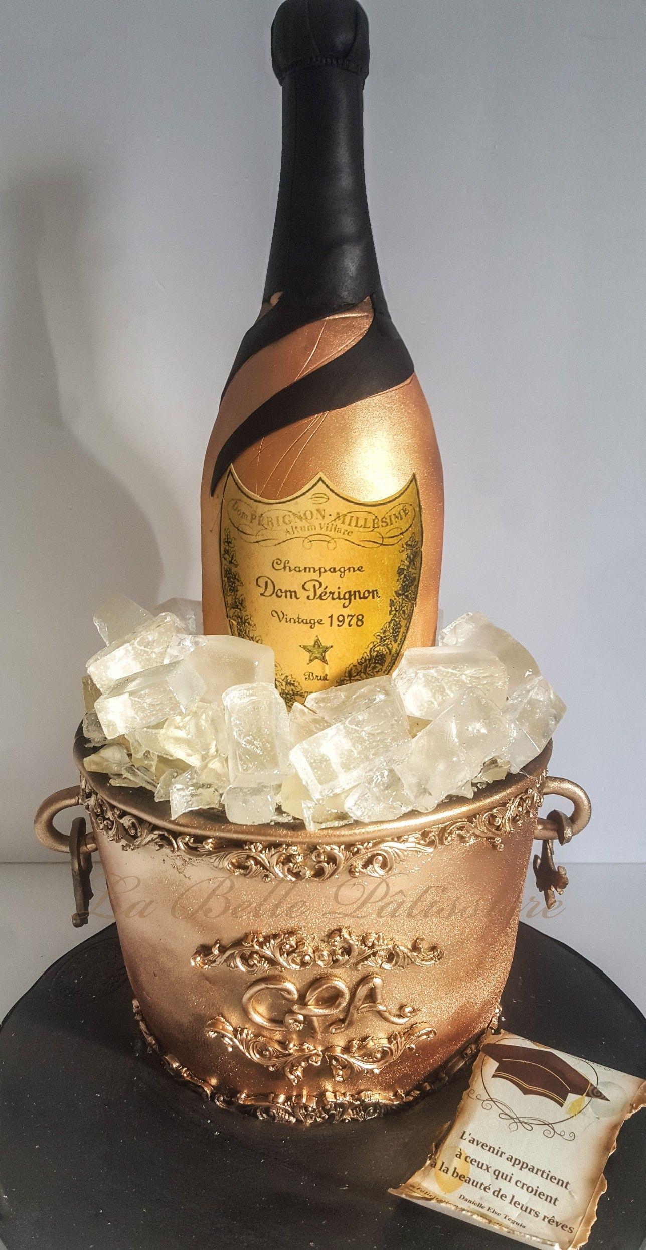 Champagne bottle cake dom perignon cake