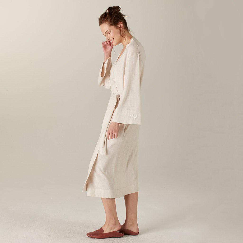 a66e02d6b318 Naadam Khimori Silk Cashmere Travel Robe White - L Xl
