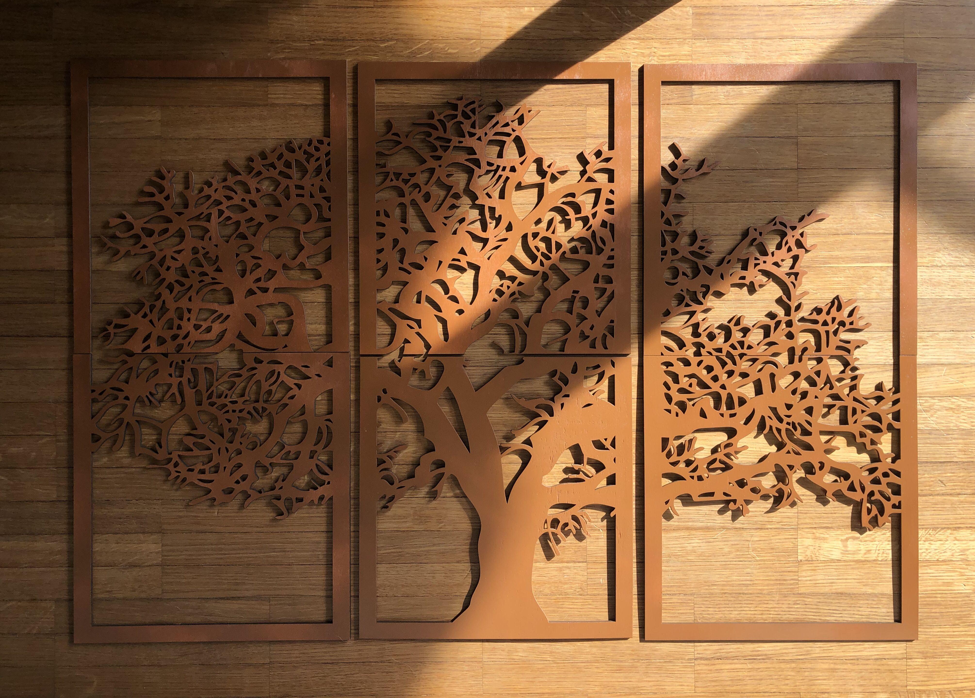 Xxl Large Tree Of Life Wall Art Wood Wall Art Decor Wall