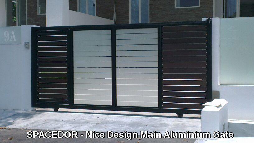 multi-leaf sliding louvered gate - Google Search | House designs ...