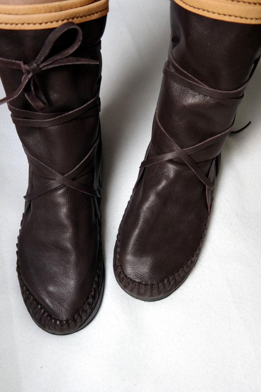 handgefertigte Damen Herren natürliches Leder Wildleder Slipper Stiefel