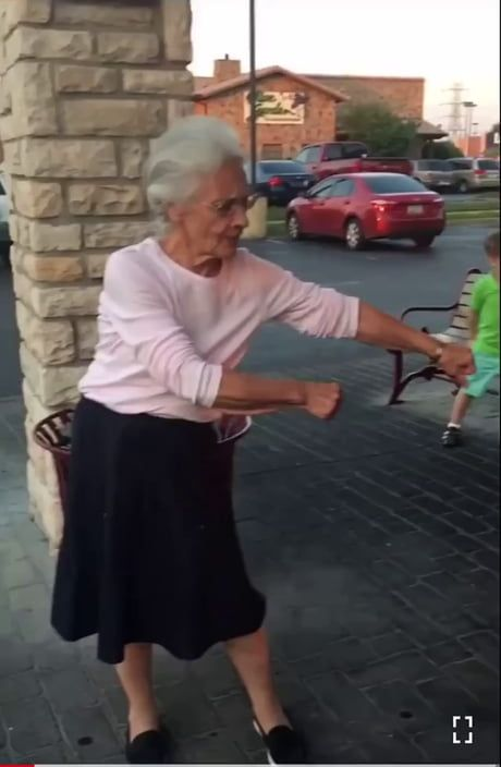 They bet grandma that she couldn't do the dance, t