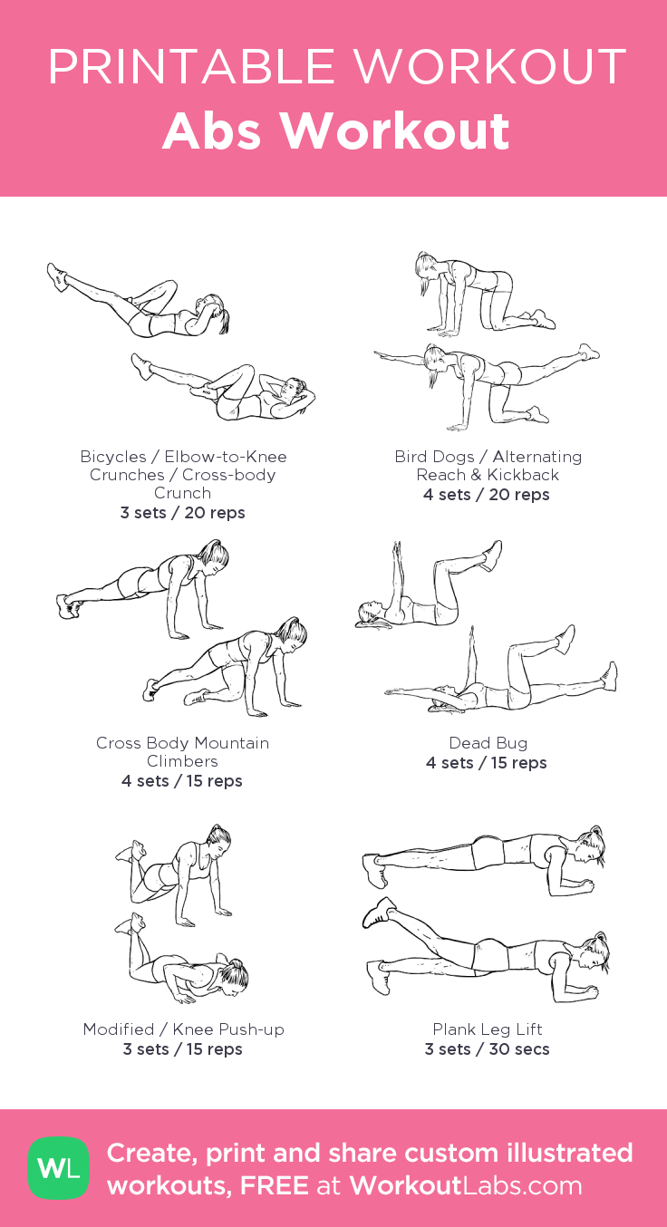 abs workout my visual workout created at workoutlabs com click