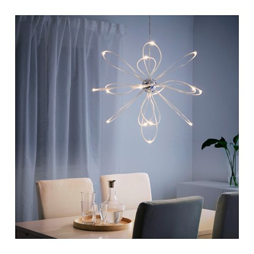 IKEA - ONSJÖ, LED chandelier, , , The LED light source consumes up to less  energy and lasts 20