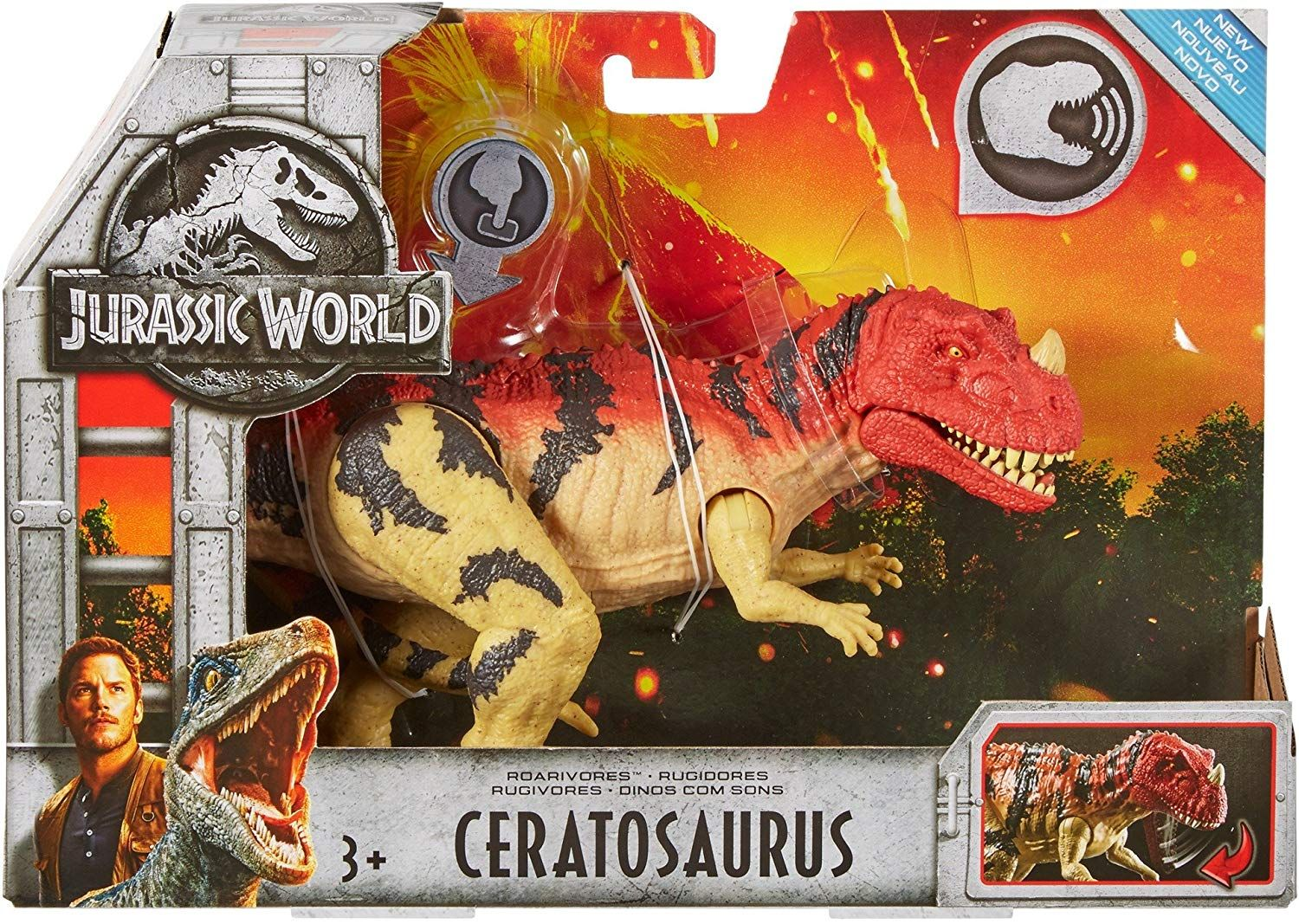 Jurassic World FMM29 Roarivores Ceratosaurus Amazon.co.uk