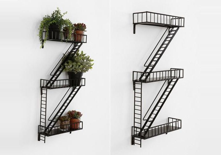 Fire Escape Wall Shelf I Want This So Badly Its New York