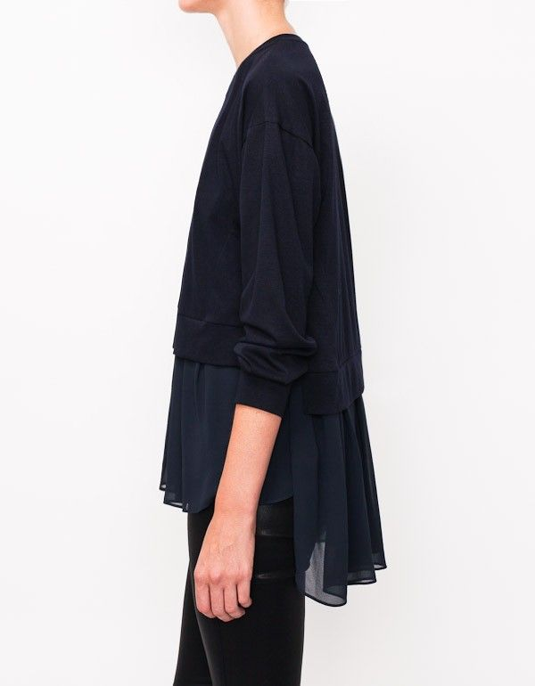 Kai-aakmann Silk Blouse Crop Top
