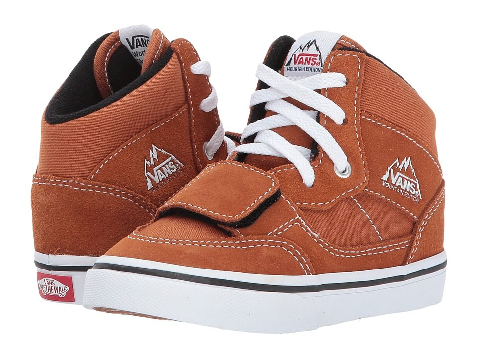 01faf7bb2a Vans Kids Mountain Edition (Toddler) Boys Shoes (Canvas   Suede) Glazed  Ginger
