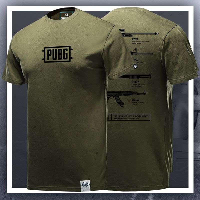 16a75b88 Quality PUBG Armory Army Green Tshirt Playerunknown'S Battlegrounds T-shirt