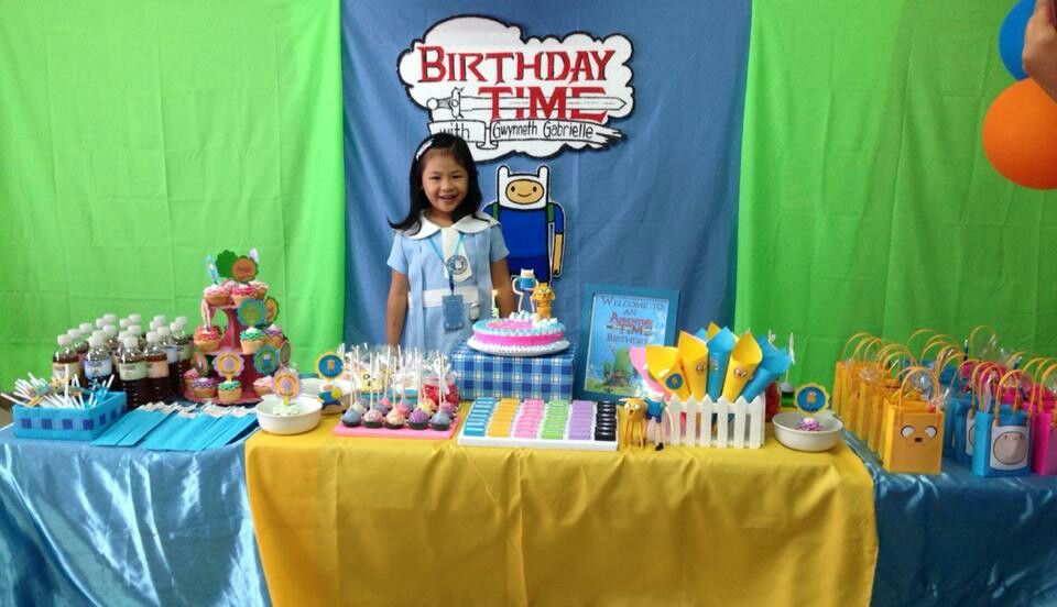 Gabbie's 6th year of adventure with Finn and Jake begins!  While the rest of the girls at her age would ask for frozen themed party, my girl in here adores Finn & Jake and Princess Bubblegum.  Thank you to my ever nice and creative friend, Reina, for setting up the dessert table.  Much love ♡♡♡! :*