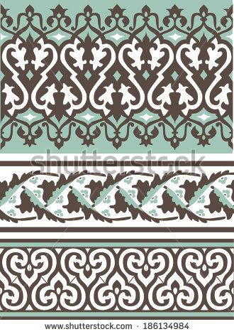 Arabic vintage seamless ornament for background design  by Ataly, via Shutterstock