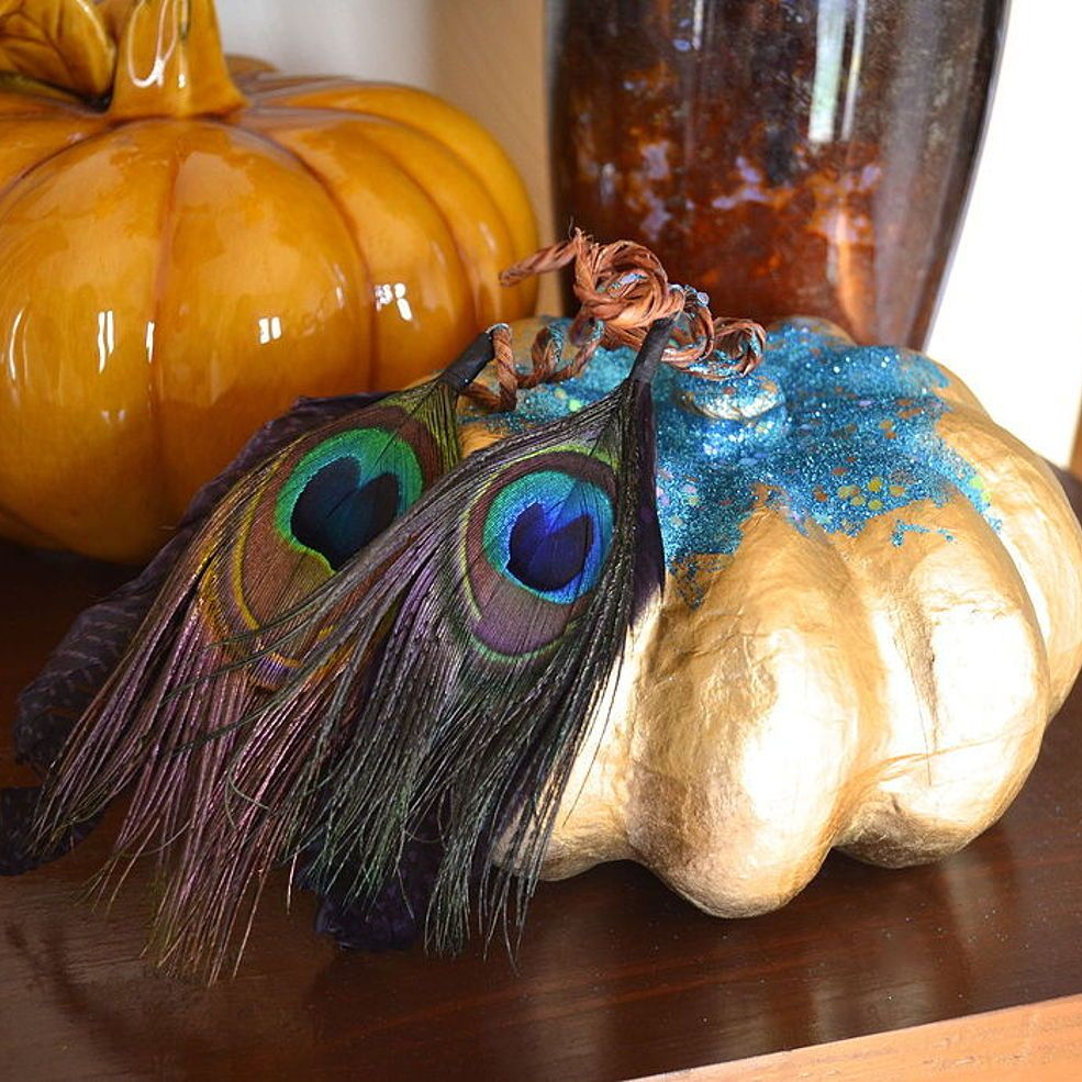 Gold Peacock Pumpkin