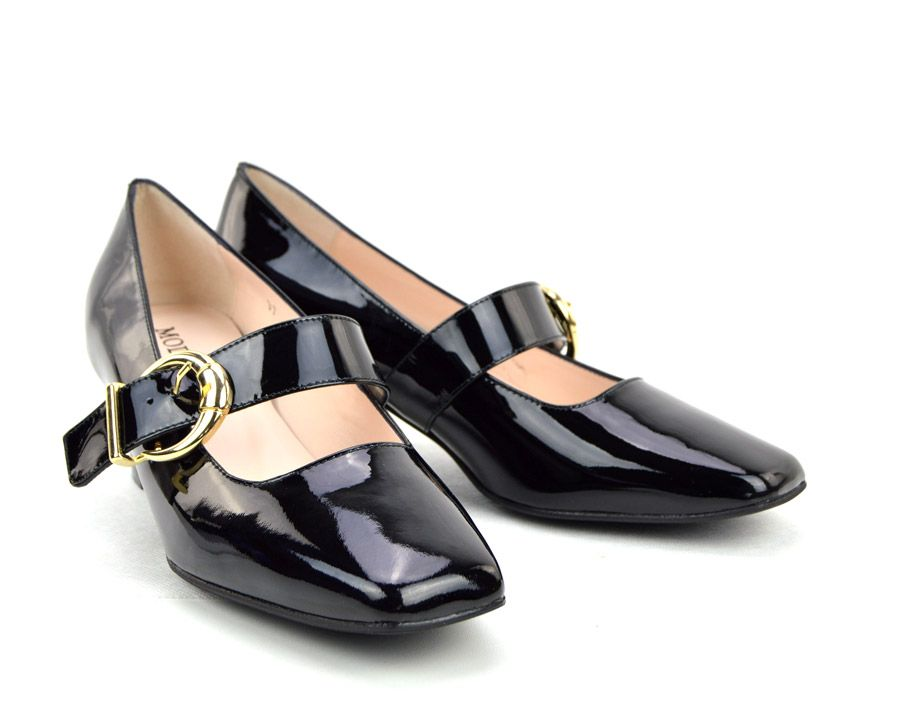 121f0f2b3d4 The Lola In Black Patent Leather - Mary Jane 60s Style Ladies Shoes ...