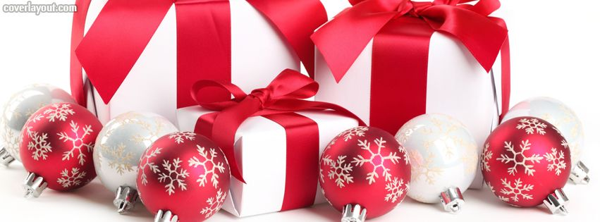 Red Christmas Decor Gifts Facebook Cover CoverLayout.com ...