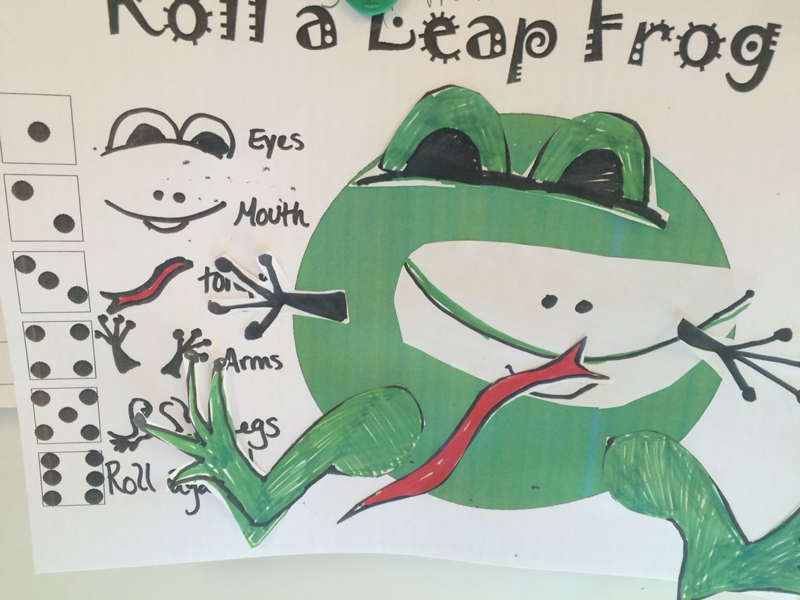Roll a Leap Frog - follow the steps