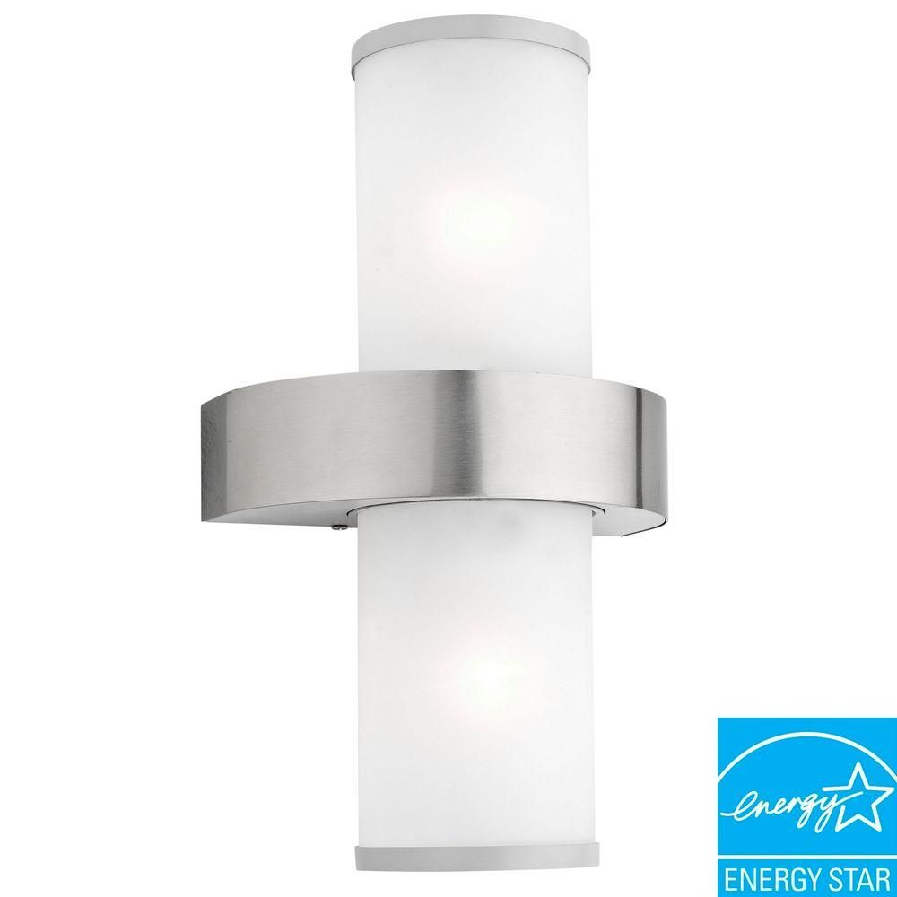 Beverly 2 Light Silver Outdoor Wall Mount Lamp