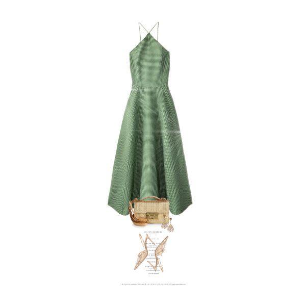 L'Été Et Sa Petite Robe Verte / The Summer And Its Little Green Dress by halfmoonrun on Polyvore featuring Michael Kors, René Caovilla and Salvatore Ferragamo