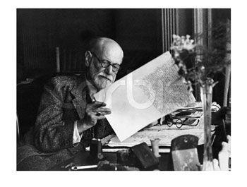 Sigmund Freud Editing a Manuscript -  - print from allposters.com: click here