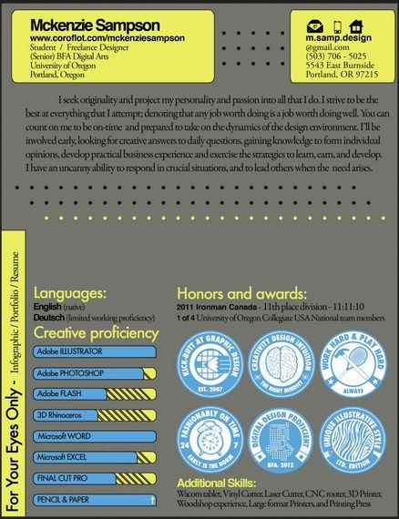 Infographic Resume For Engineers -    jobresumesample 1938 - info graphic resume