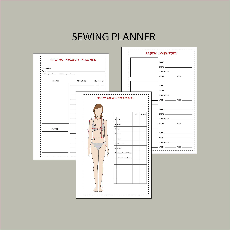 Sewing Planner Pdf Printable Planner Sewing Project Planner Etsy In 2020 Sewing Planner Printable Planner Sewing Project Planner