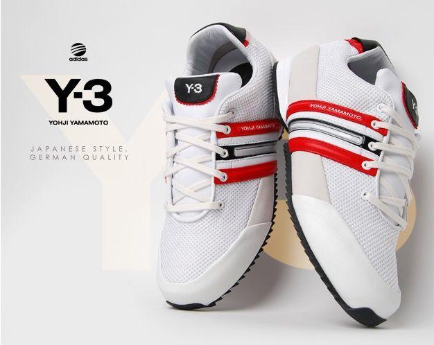 adidas Y-3 Sprint: White/Red/Black | Japanese fashion designers ...