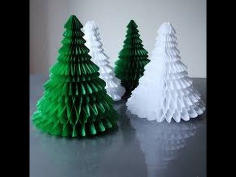 How To Make A Paper Christmas Tree How To Make Christmas Tree Paper Christmas Ornaments Origami Christmas Tree