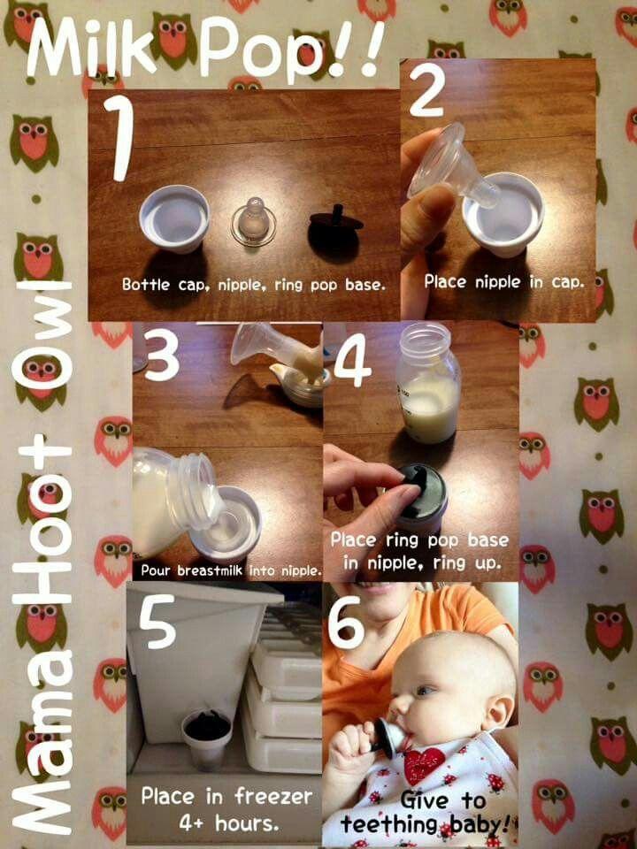 Breastmilk pops for teething baby! :) | Milk supply | Pinterest ...
