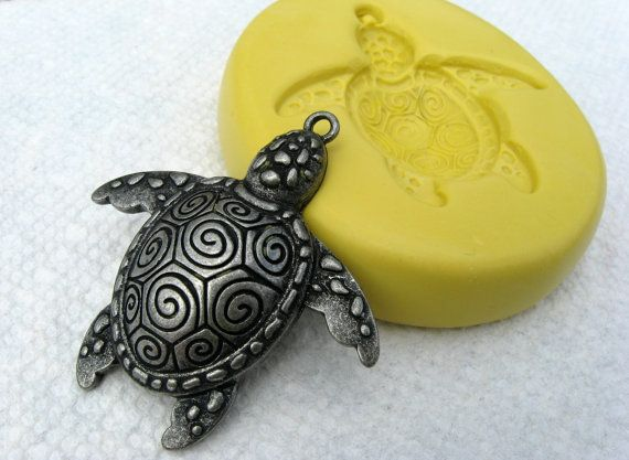 Silicone Mold Turtle Flexible for Crafts Jewelry Resin Scrapbooking Polymer Clay