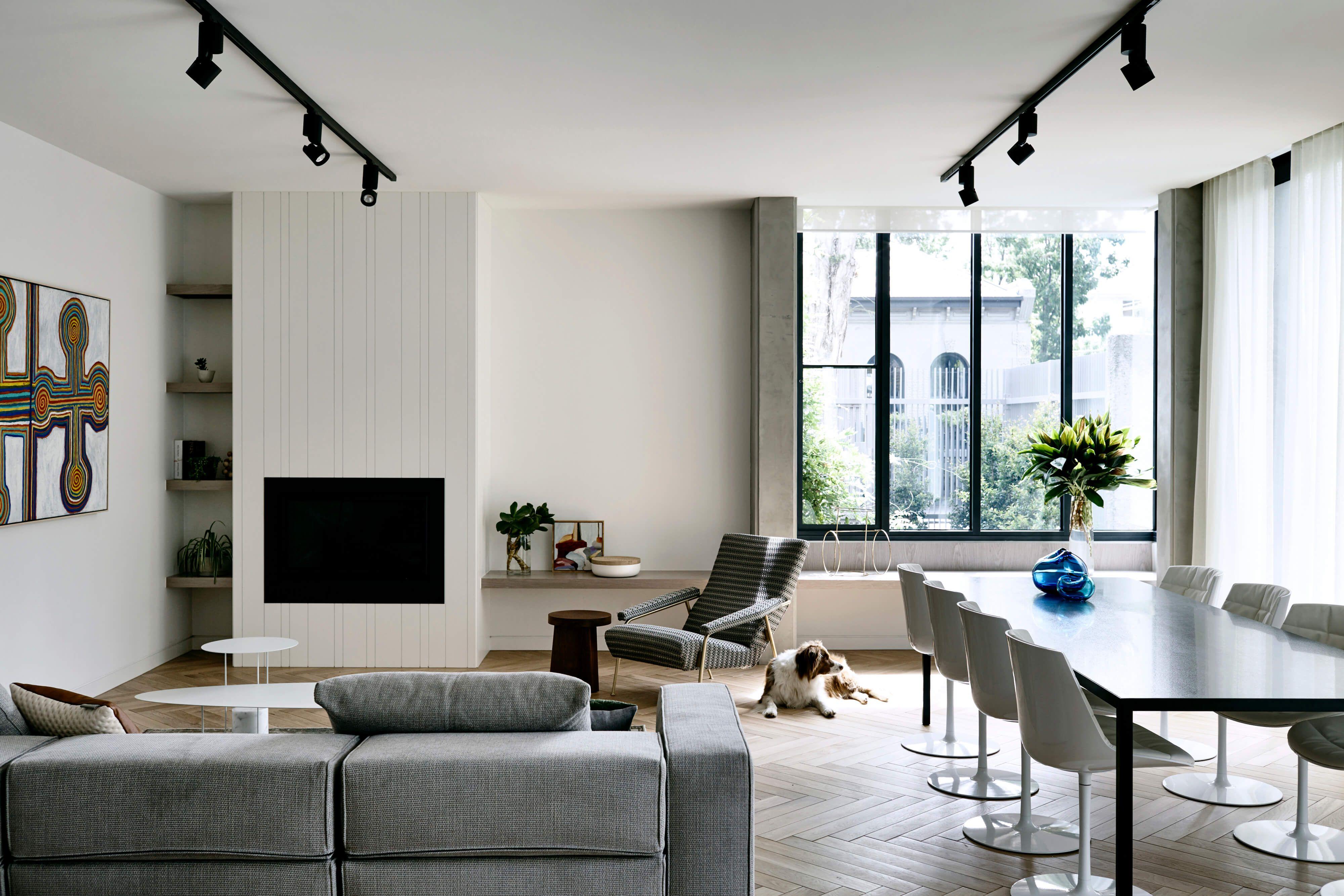 BROOKVILLE APARTMENT | Living room lighting, Track lights ...