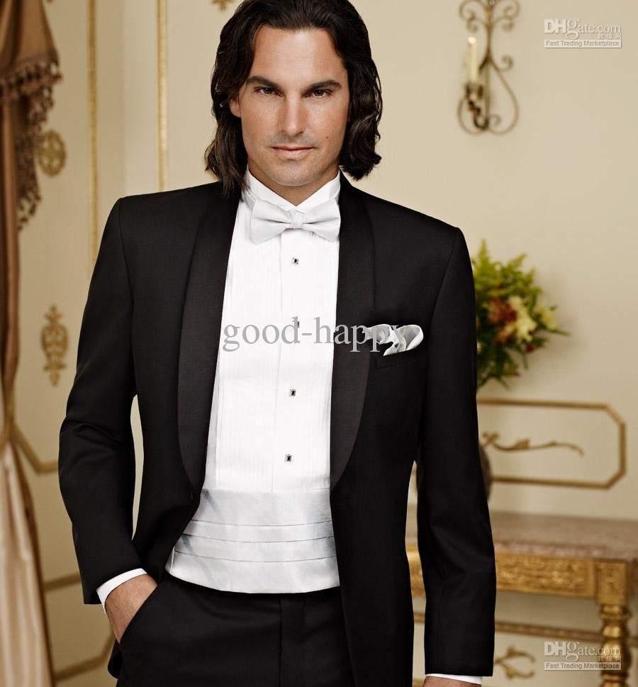 Top Quality Groom Tuxedos Men\'s Wedding Dress Prom … | Fitness ...