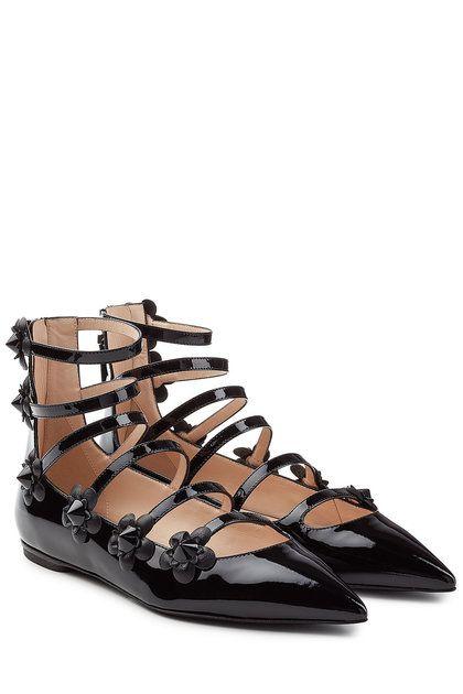 565c8f15a233 Embellished Patent Leather Ballerinas   Fendi   FENDI   Pinterest