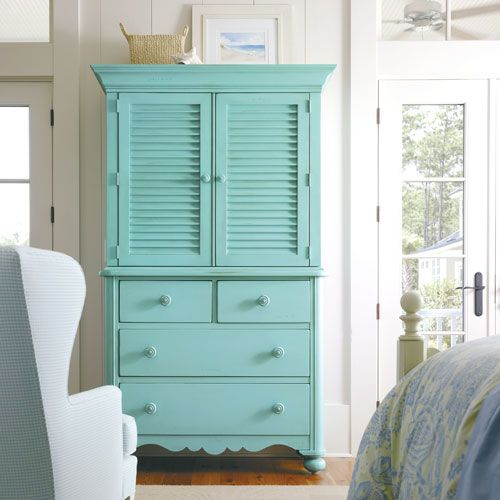 Aqua Armoire Cottage Style Furniture Furniture Stanley Furniture