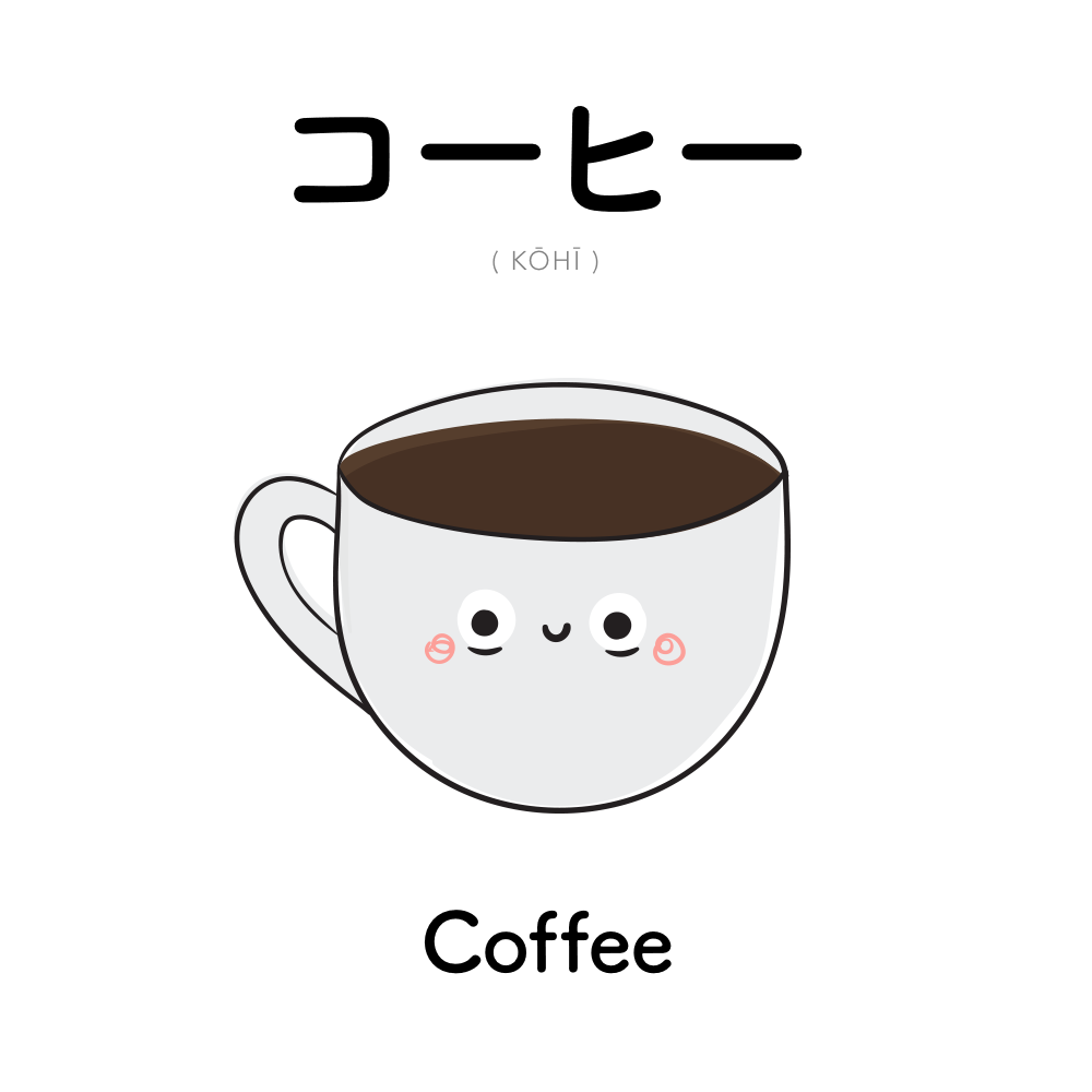 コーヒー kohi coffee palavras japonesas