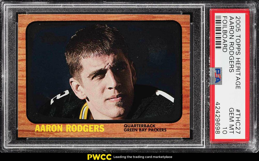 2005 topps heritage foilboard aaron rodgers rookie rc