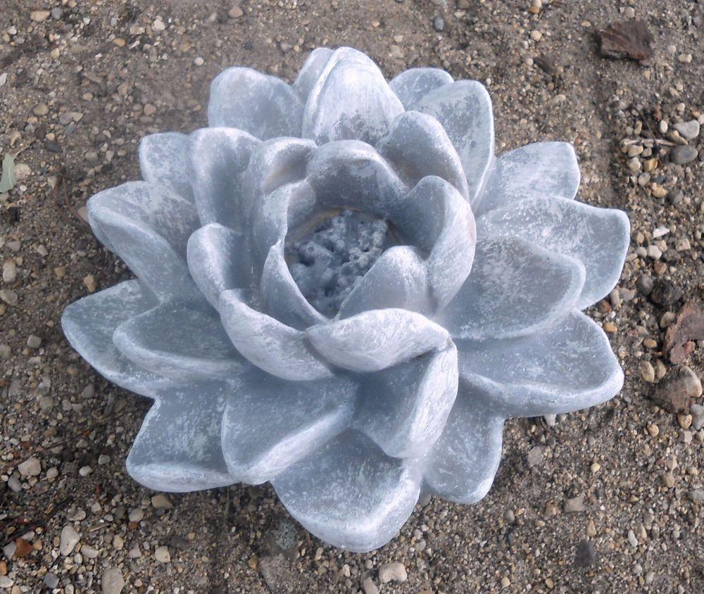 Flower concrete plaster mold abs plastic cement mould