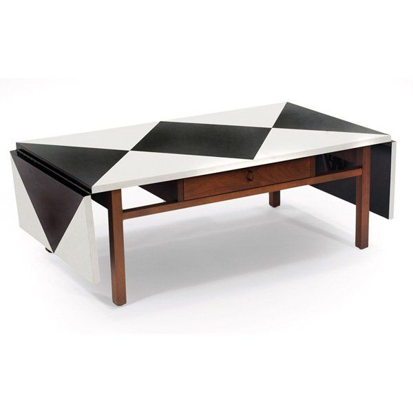 Anonymous Walnut and Laminate Coffee Table by Brown Saltman 1950s