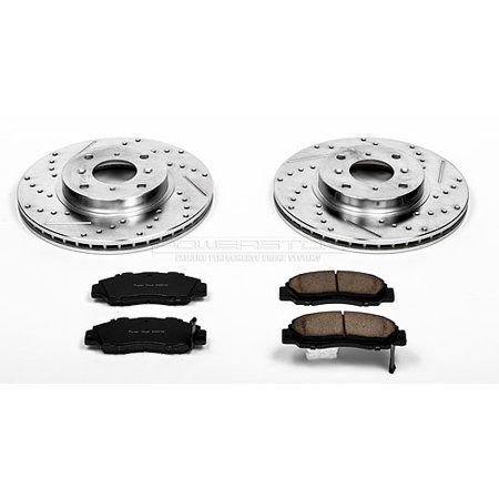 Power Stop Front Rear Brake Kit With Drilled Slotted Rotors And Ceramic Brake Pads K7006 In 2020 Ceramic Brake Pads Ceramic Brakes Brake Pads