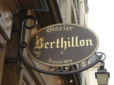 Glacier Berthillon...le plus prestigieux de Paris qui offre un vrai plaisir des sens Helados Berthillon...el más prestigioso de Paris qui ofrece un verdadero placer para los sentidos Berthillon Ice cream...the most famous in Paris so delightful