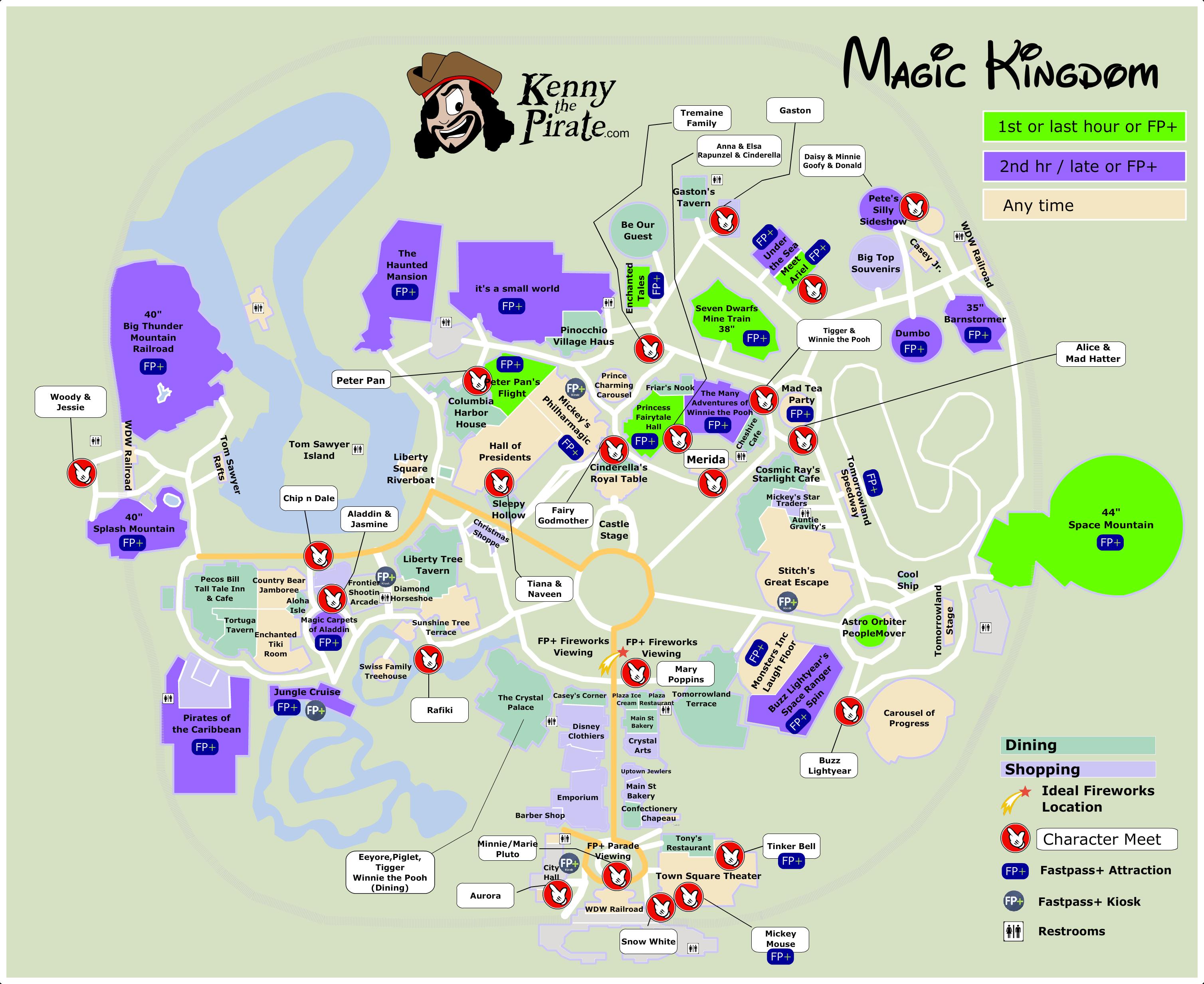 Pin by Christopher Jenkinson on Disney   Magic kingdom map, Magic ...