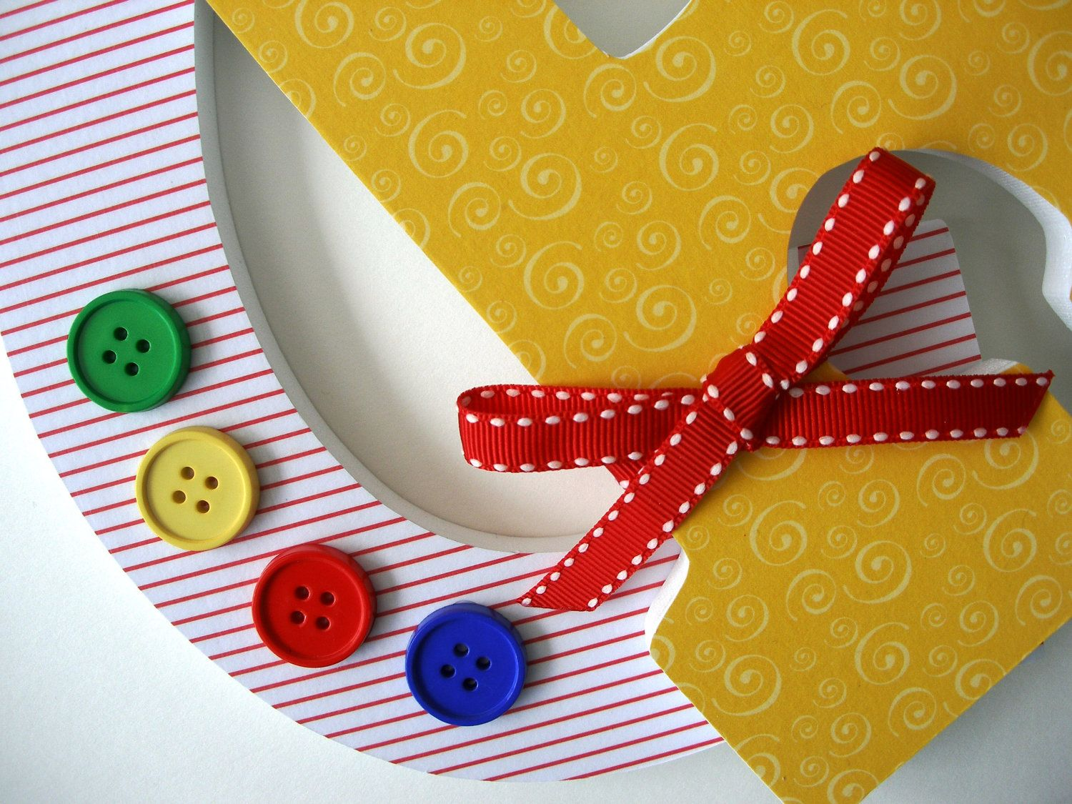 Custom Decorated Wooden Letters PRIMARY COLOR THEME - Nursery ...