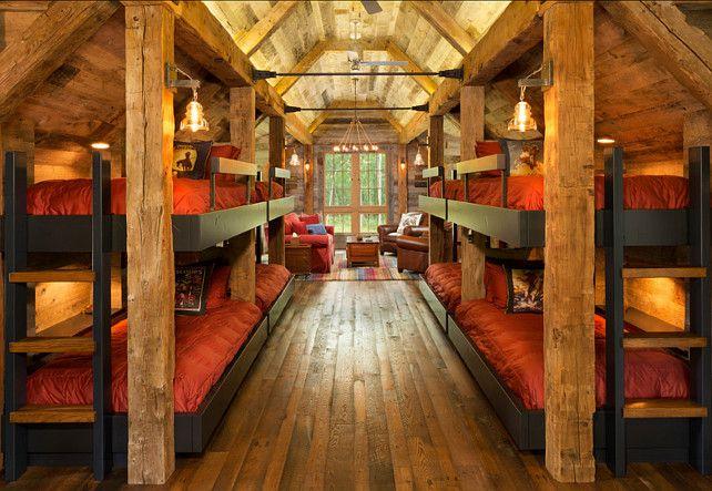 Bunk Room Ideas Queen On Bottom Twin On Top Beds Built