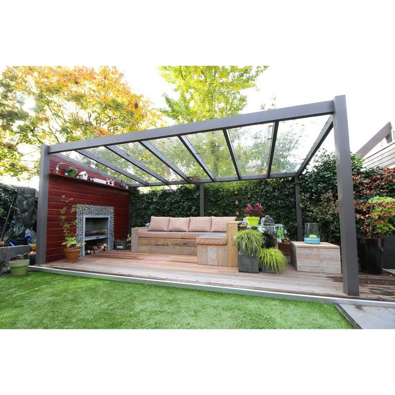 Garten Terrasse: Gabionen Überdachung
