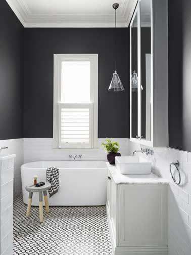 Idées déco pour une salle de bain grise | Washroom and House