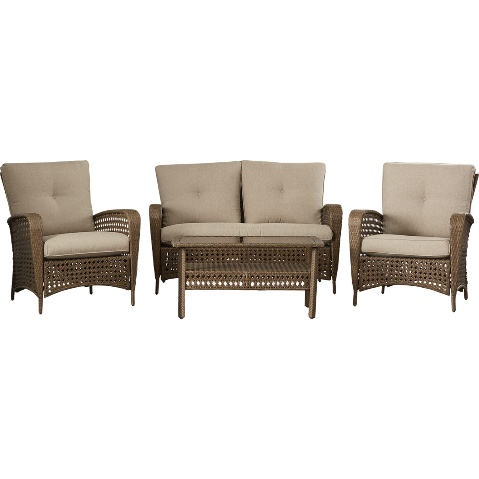 Cosco Home and fice Lakewood Ranch 4 Piece Sofa Seating Group