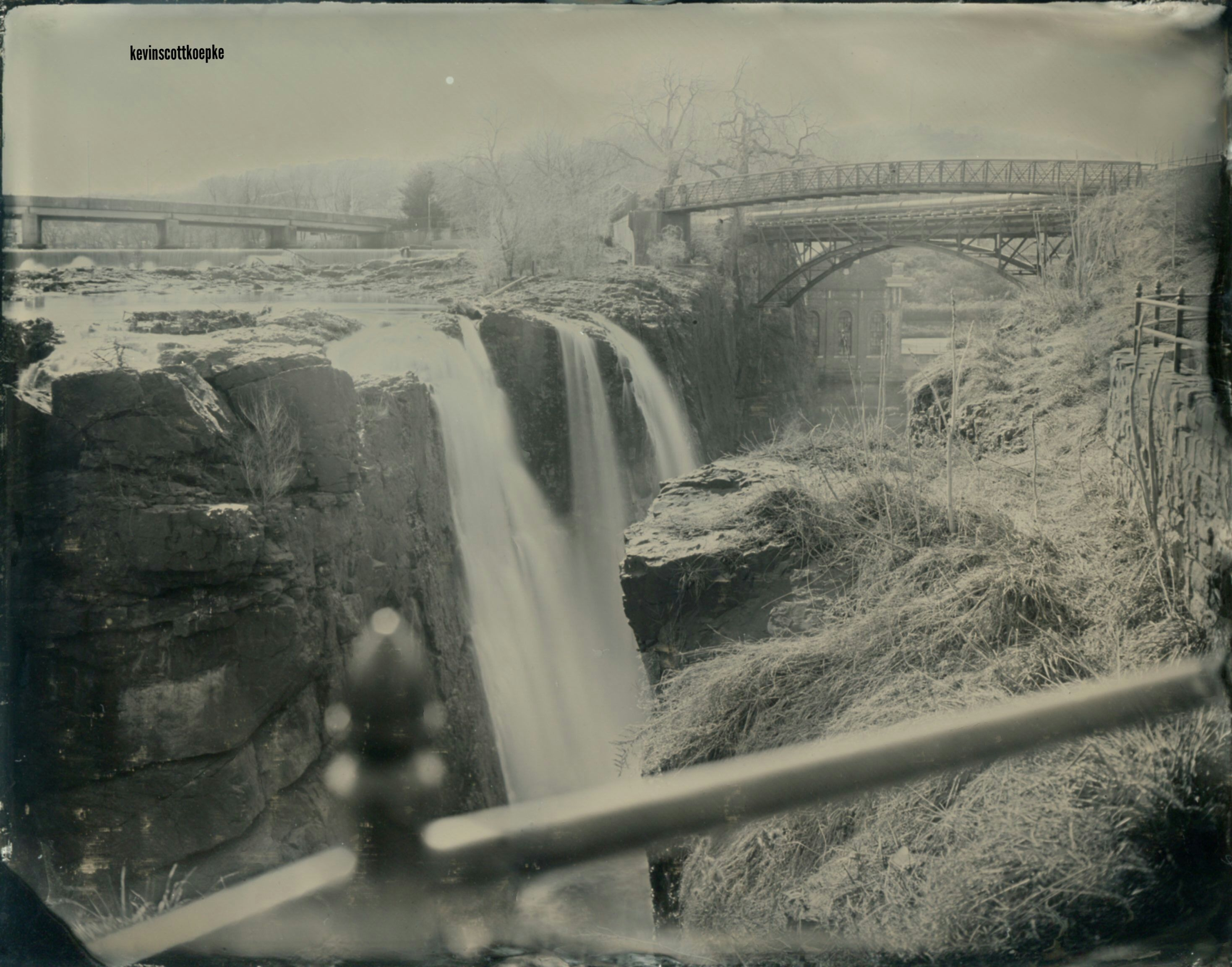 Paterson Falls; 2/20/2017 (Wet Plate Collodion Aluminotype)