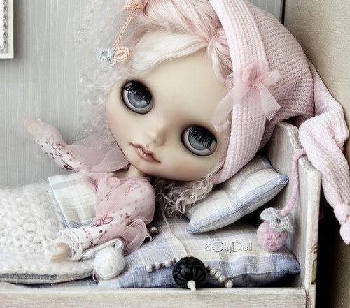 Blythe in bed