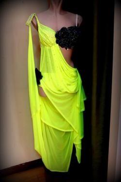 30b472d6fd0 Φορέματα Χορού - φόρεμα για RUMBA κίτρινο | dance | Dance wear, Dance