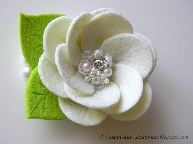 Шаблон цветов из фетра своими руками 680