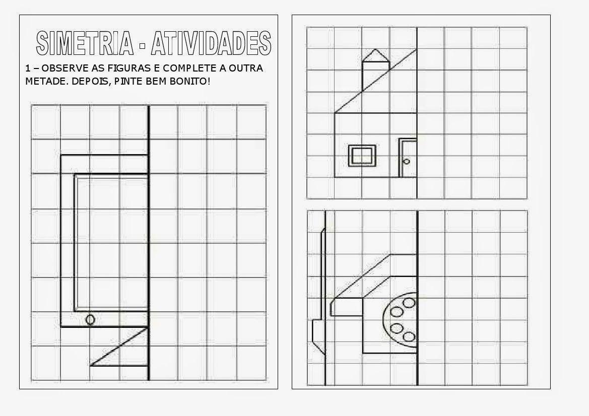 Atividades Sobre Simetria Para Imprimir