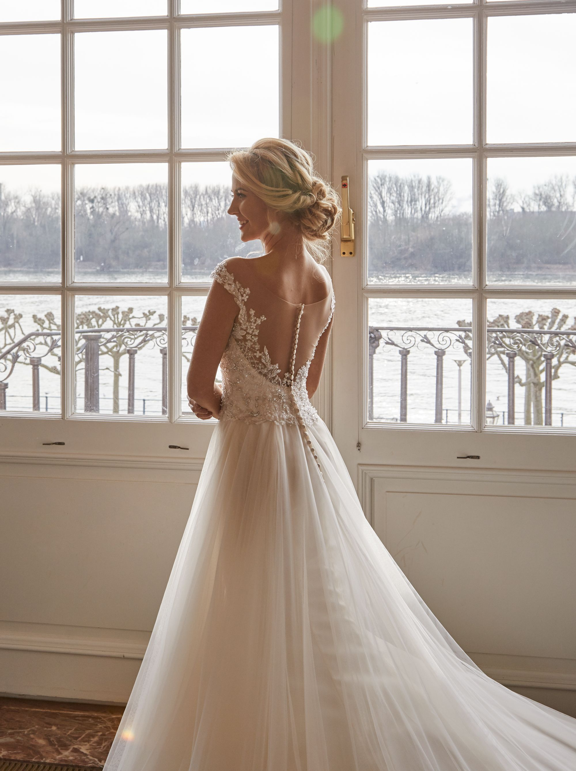 Tulle Bodice With Applique Lace And Romantic Ballroom Tulle Skirt Www Joyceyoungcollections Co Uk Wedding Dresses Lace Designer Wedding Dresses Bridal Dresses